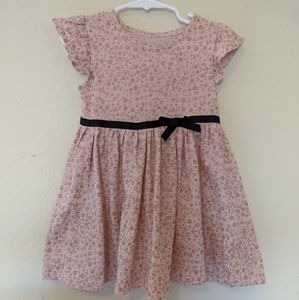 Cute pink and gold toddler dress